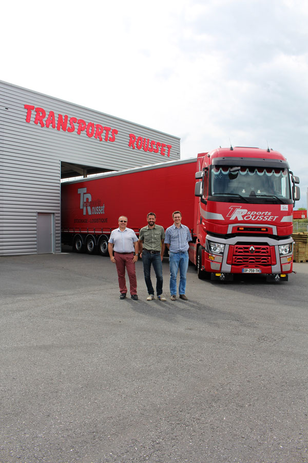 La direction de Transports Rousset - Transport routier international