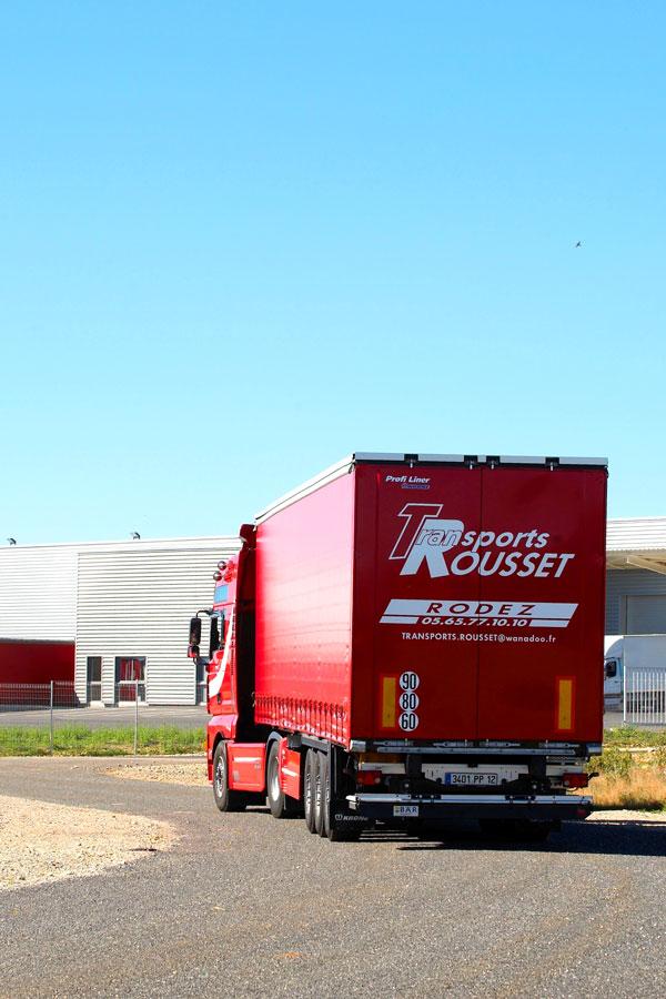 Les camions de transport de Transports Rousset